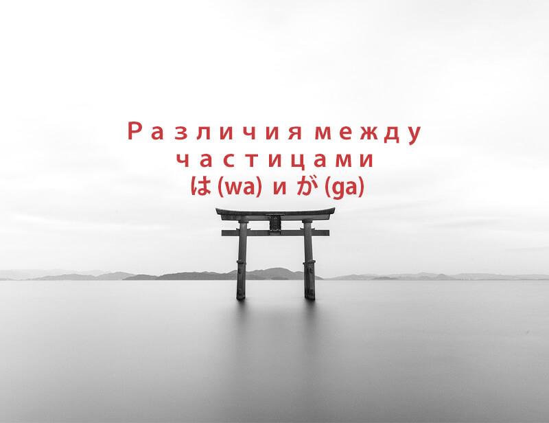 は (wa) и が (ga)